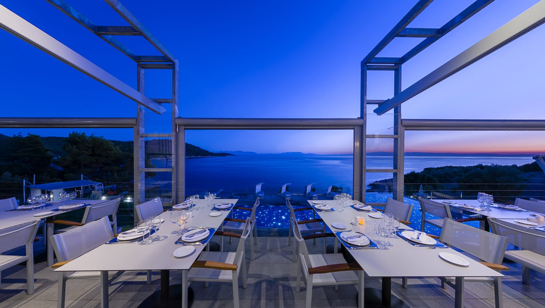 skopelos restaurants adrina resort dinner restaurant 00