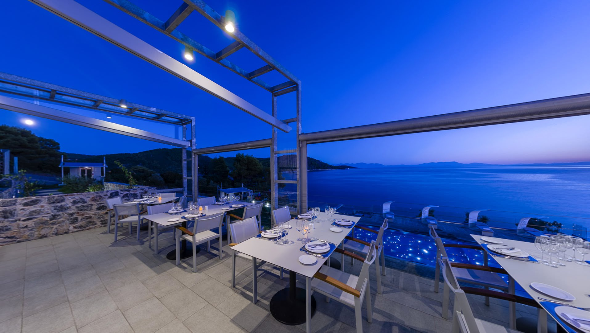 skopelos restaurants adrina resort dinner restaurant 37