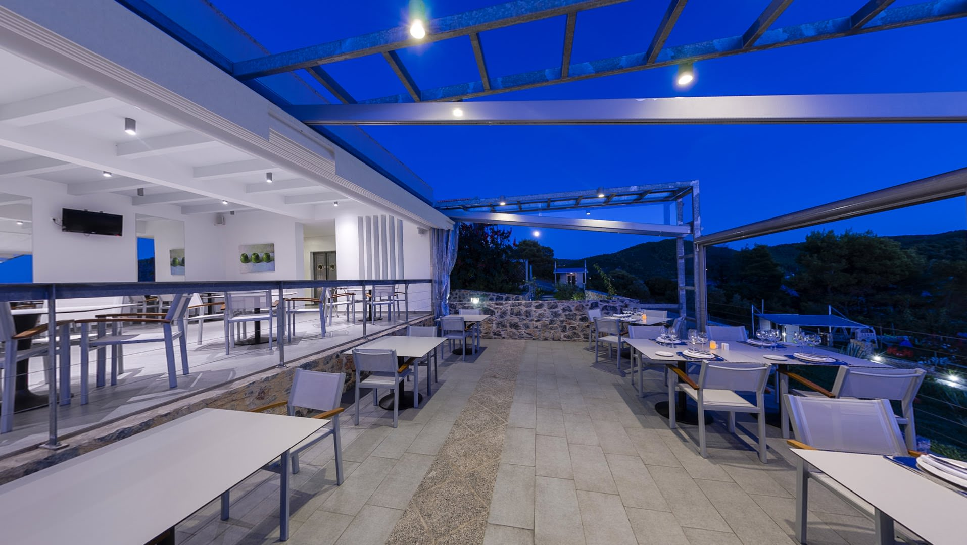skopelos restaurants adrina resort dinner restaurant 43