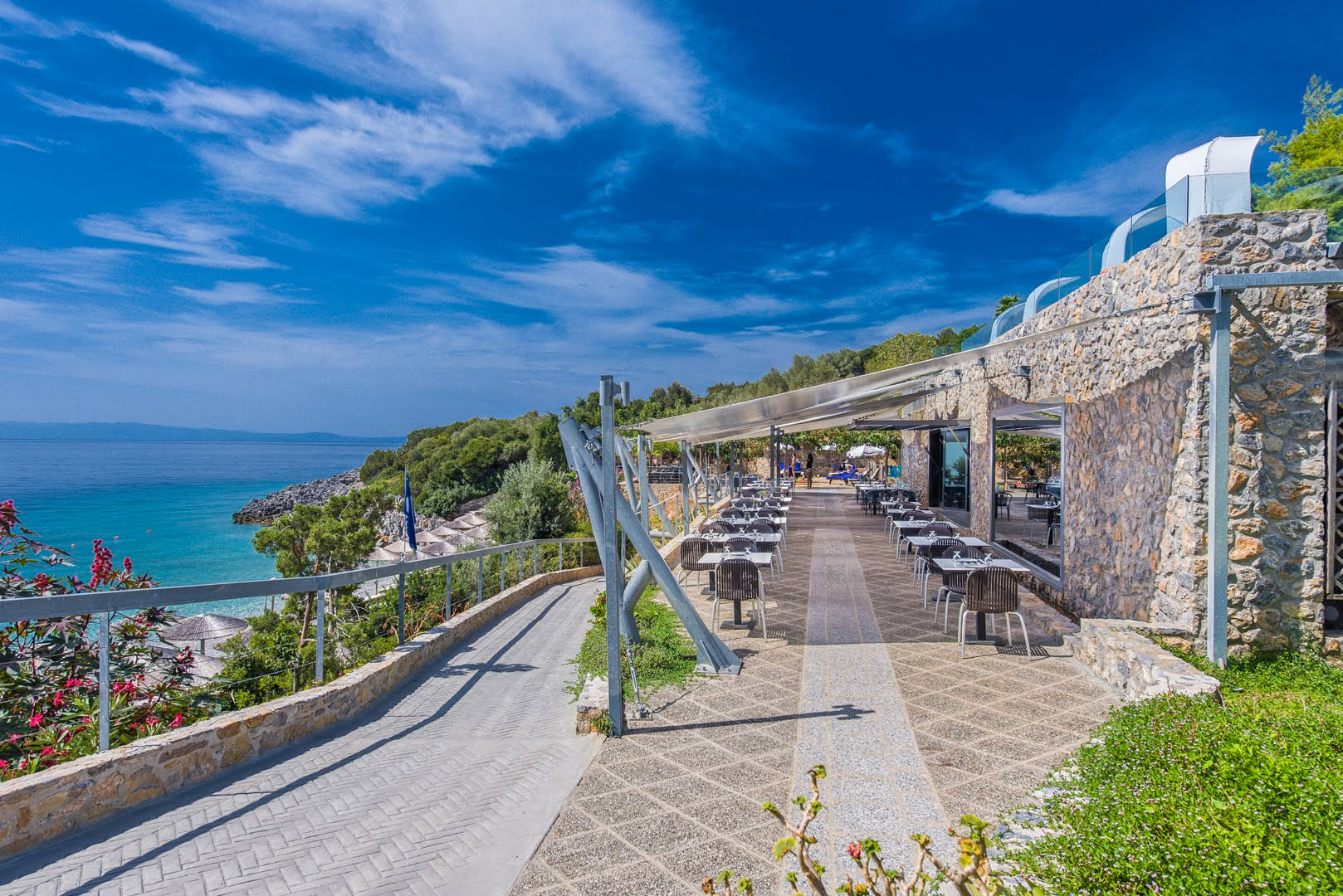 skopelos restaurants adrina resort lunch restaurant 03