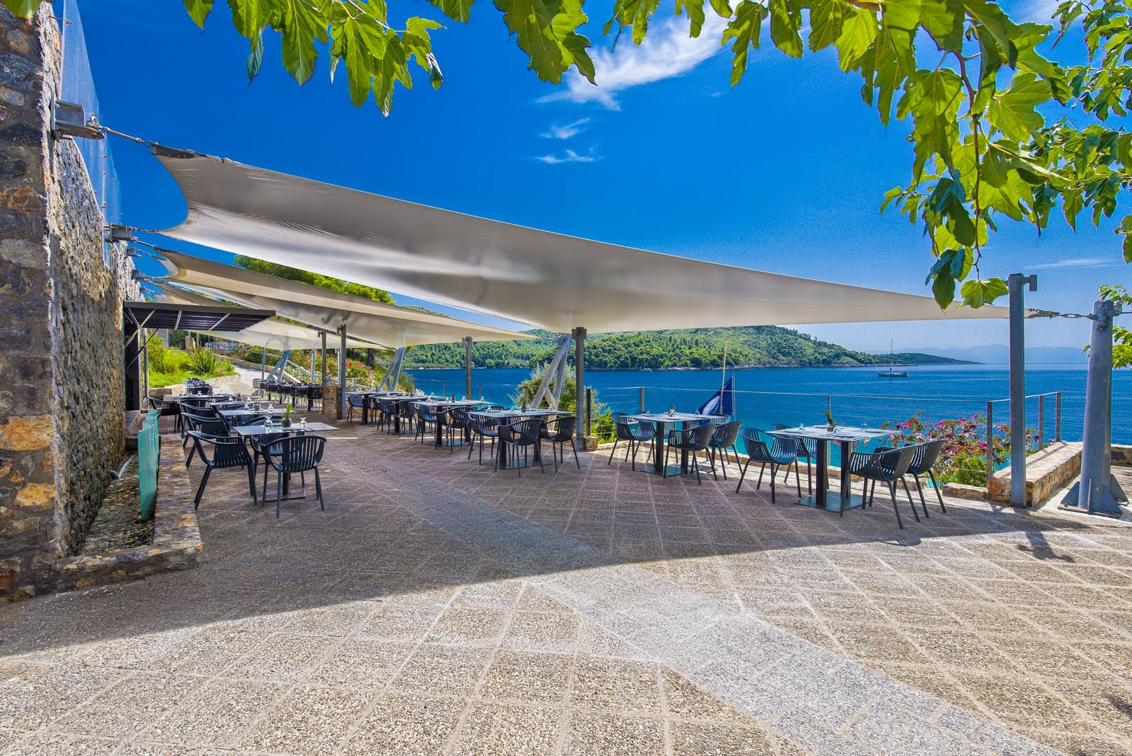 skopelos restaurants adrina resort lunch restaurant 6