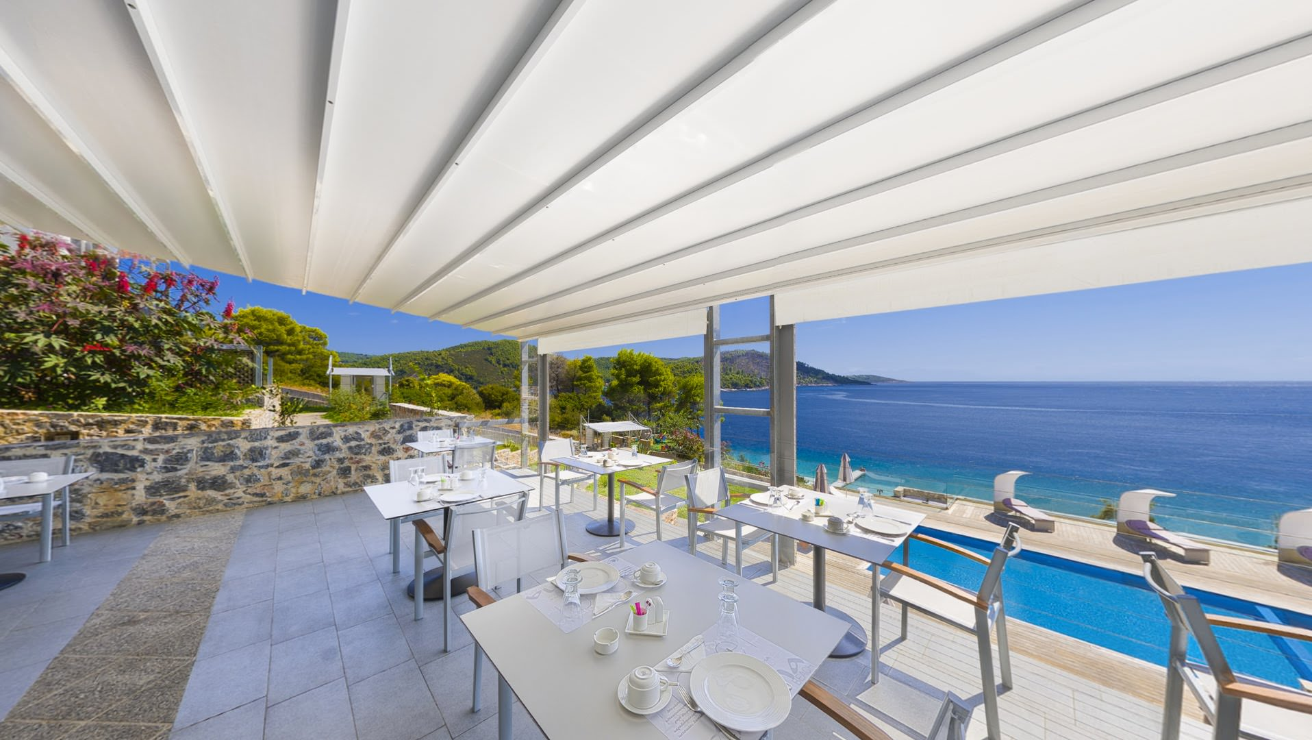 skopelos hotels adrina resort breakfast 09