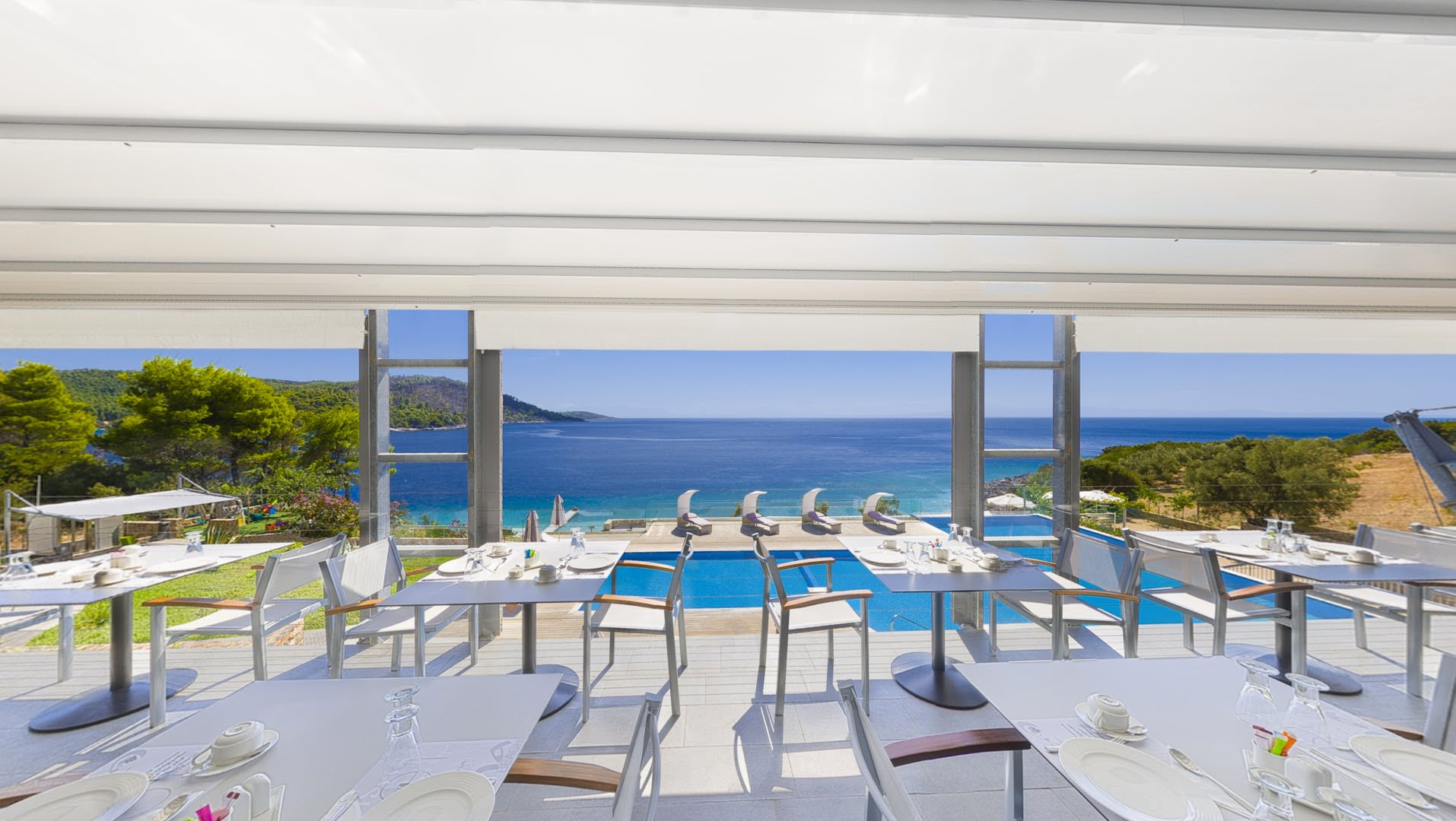 skopelos hotels adrina resort breakfast 2