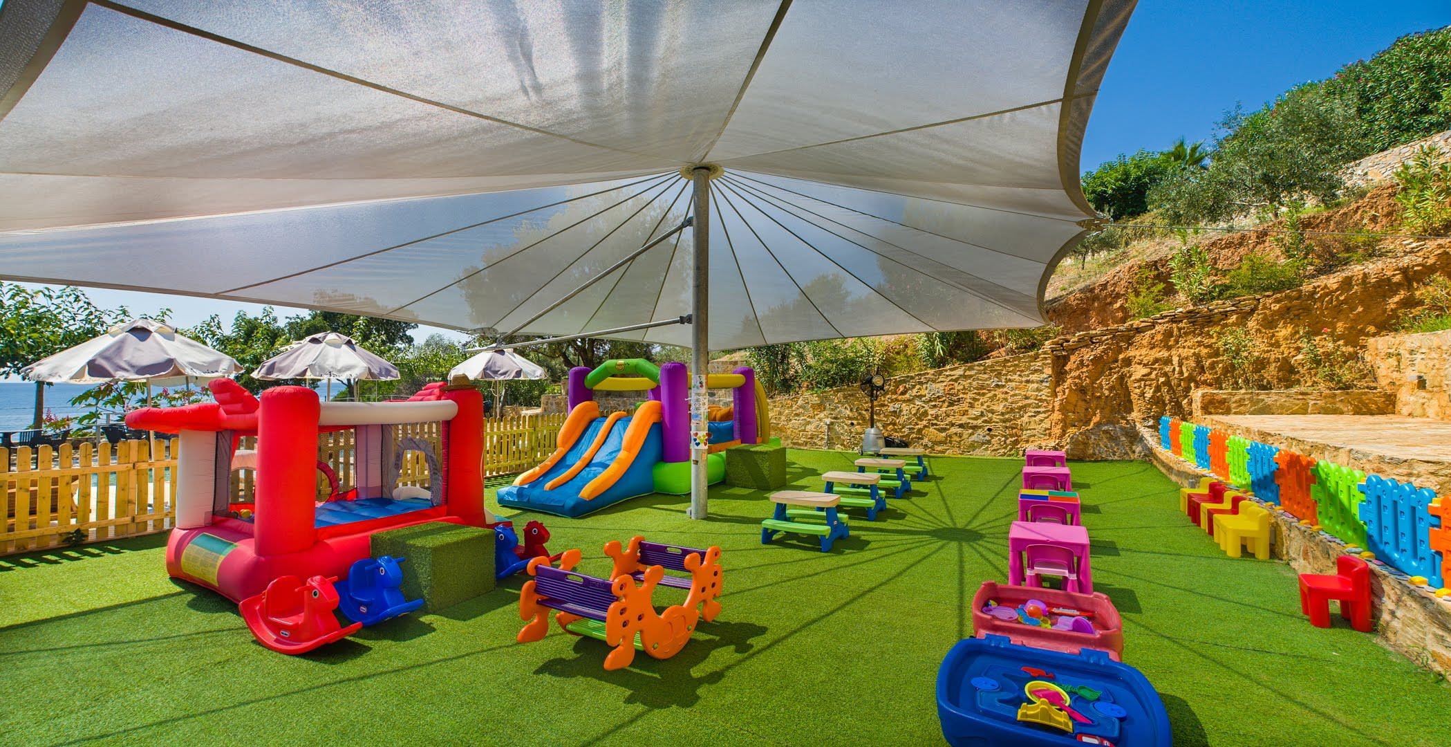 skopelos hotels adrina resort children playground 2